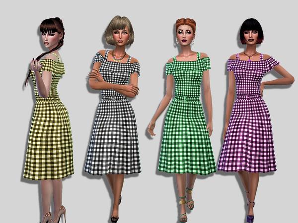 Vikki dress by Simalicious at TSR image 690 Sims 4 Updates