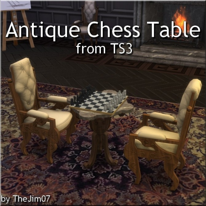 Antique Chess Table from TS3 by TheJim07 at Mod The Sims image 698 670x670 Sims 4 Updates