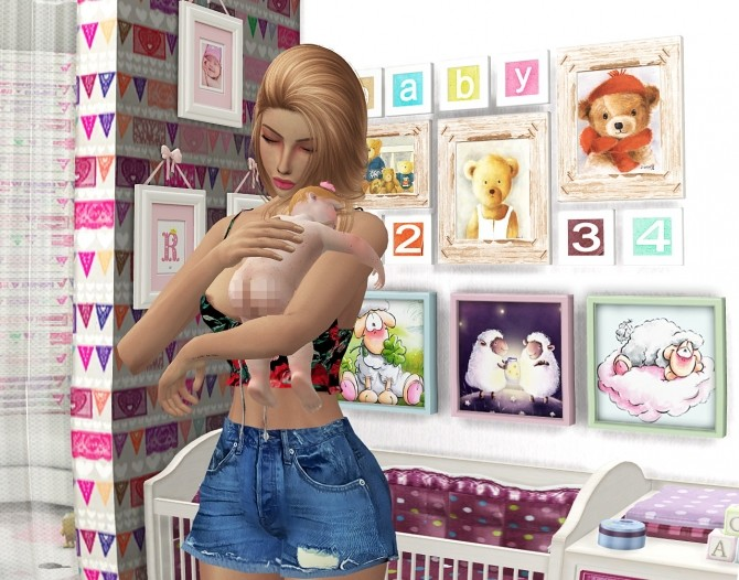 BABIES STORIES DECOR 2 + POSES by Thiago Mitchell at REDHEADSIMS – Coupure Electrique image 7012 670x526 Sims 4 Updates