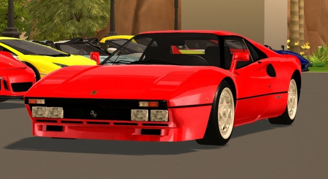 Sims 4 1984 Ferrari 288 GTO at Tyler Winston Cars
