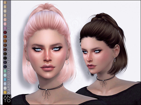 Rules Hair by Anto at TSR image 7211 Sims 4 Updates