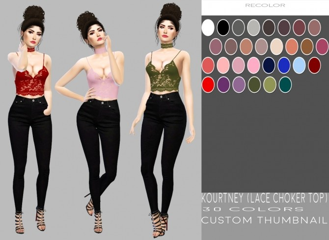 Kourtney Lace Choker Top at Simply Simming image 7212 670x489 Sims 4 Updates