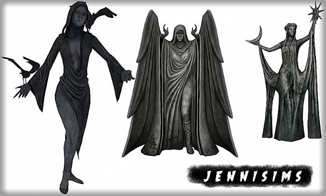 Sims 4 Nocturnal Statues at Jenni Sims
