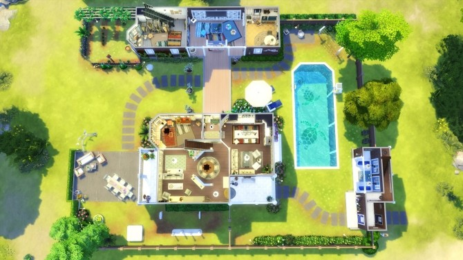 Sims 4 San Diego Beach House NoCC by Chaosking at Mod The Sims