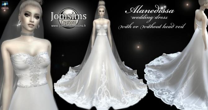 Alanedissa wedding dress at Jomsims Creations image 737 670x355 Sims 4 Updates