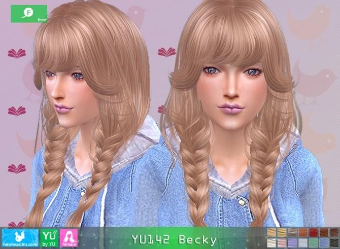 Sims 4 YU142 Becky hair at Newsea Sims 4
