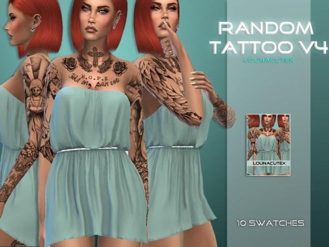 Random Tattoo V4 at Lounacutex image 7510 670x503 Sims 4 Updates