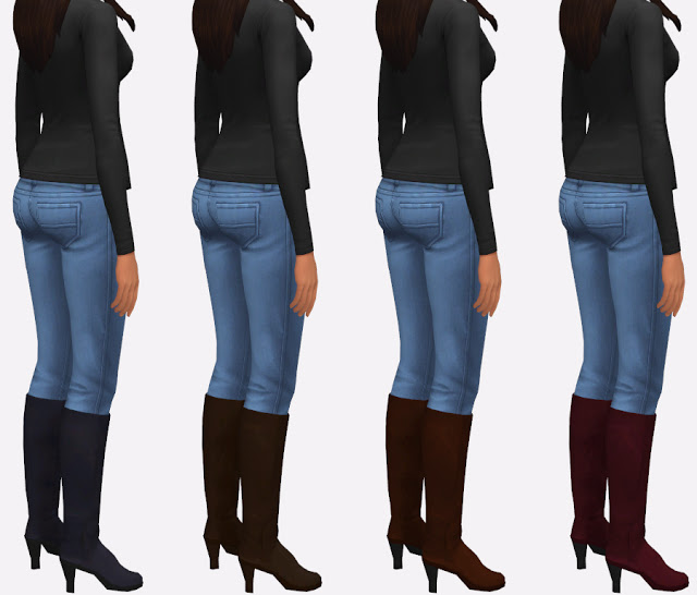 Sims 4 High Heel Boots at Simista