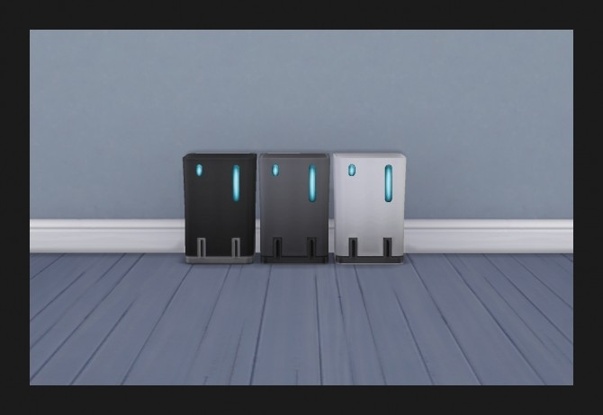 Sims 4 NanoCan Touchless Trash Can 44 Recolours by Simmiller at Mod The Sims