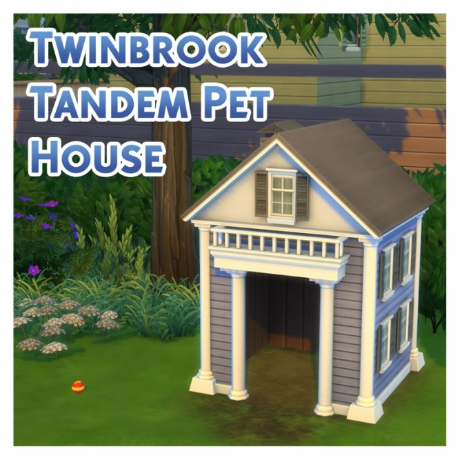 Sims 4 The Twinbrook Tandem Pet House by Menaceman44 at Mod The Sims