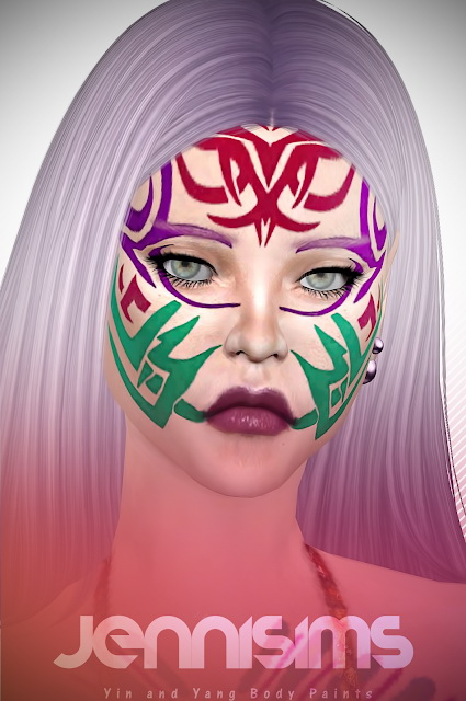 Yin&Yang Body Paints (EyeShadow, Tattoos) at Jenni Sims image 7610 Sims 4 Updates