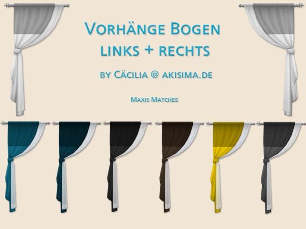 Sims 4 Curtain by Cäcilia at Akisima