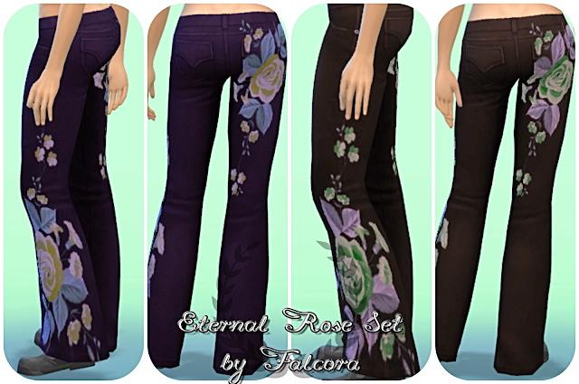 Sims 4 EternalRose Set 8x Pants at Petka Falcora