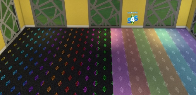 Sims 4 Plumbob Carpet Set 15 Colours by wendy35pearly at Mod The Sims