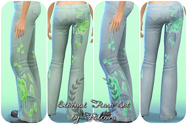 EternalRose Set 8x Pants at Petka Falcora image 7913 Sims 4 Updates