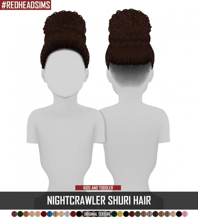 Sims 4 NIGHTCRAWLER SHURI HAIR KIDS AND TODDLER VERSION at REDHEADSIMS