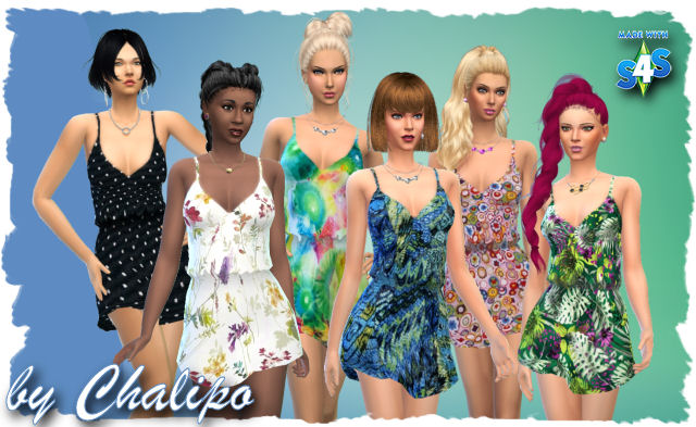 Sims 4 Boho Minidress recolors by AllAboutStyle at All 4 Sims