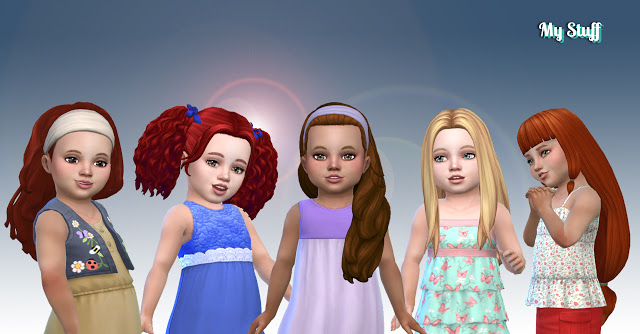 Toddlers Hair Pack 21 at My Stuff image 807 Sims 4 Updates