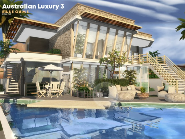 Australian Luxury 3 house by Pralinesims at TSR image 817 Sims 4 Updates