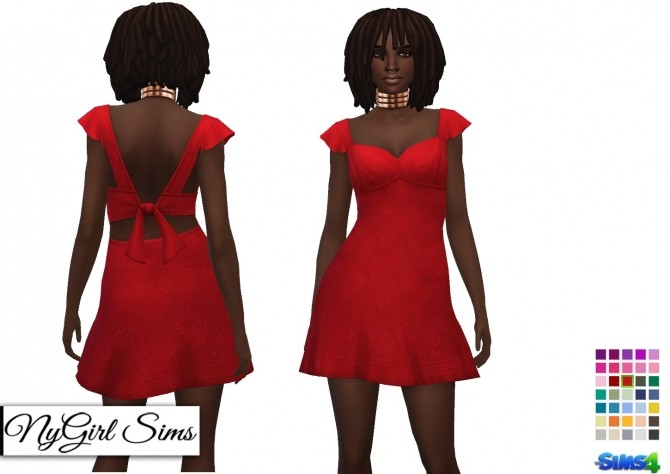 Ruffle Sleeve Sundress with Bow at NyGirl Sims image 831 670x474 Sims 4 Updates
