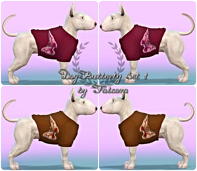 Dog Butterfly Set 10x For small dog at Petka Falcora image 8310 Sims 4 Updates