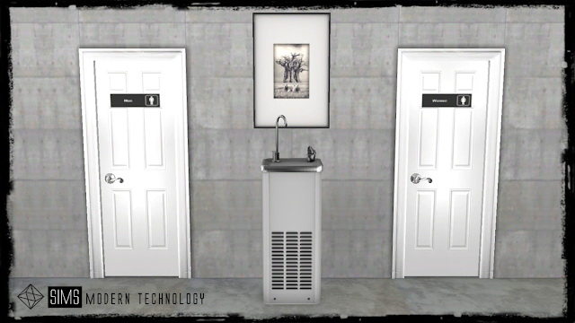 Functional Drinking Water Fountain at Sims Modern Technology image 8315 Sims 4 Updates