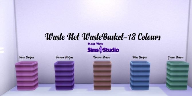 Waste Not Waste basket 18 Colours by wendy35pearly at Mod The Sims image 839 670x335 Sims 4 Updates