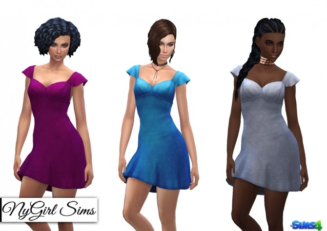 Ruffle Sleeve Sundress with Bow at NyGirl Sims image 841 670x474 Sims 4 Updates