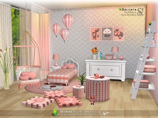 Delicata toddlers room by SIMcredible at TSR image 84161 Sims 4 Updates