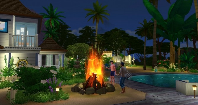 Sims 4 Aloha Resort Park by Angerouge at Studio Sims Creation