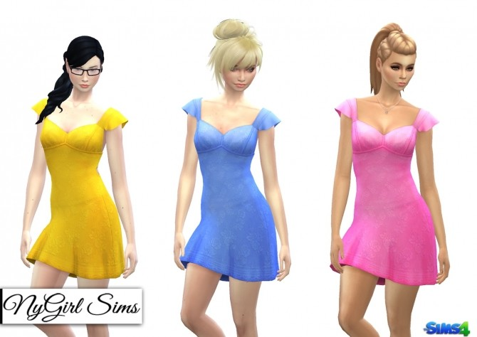 Ruffle Sleeve Sundress with Bow at NyGirl Sims image 851 670x474 Sims 4 Updates