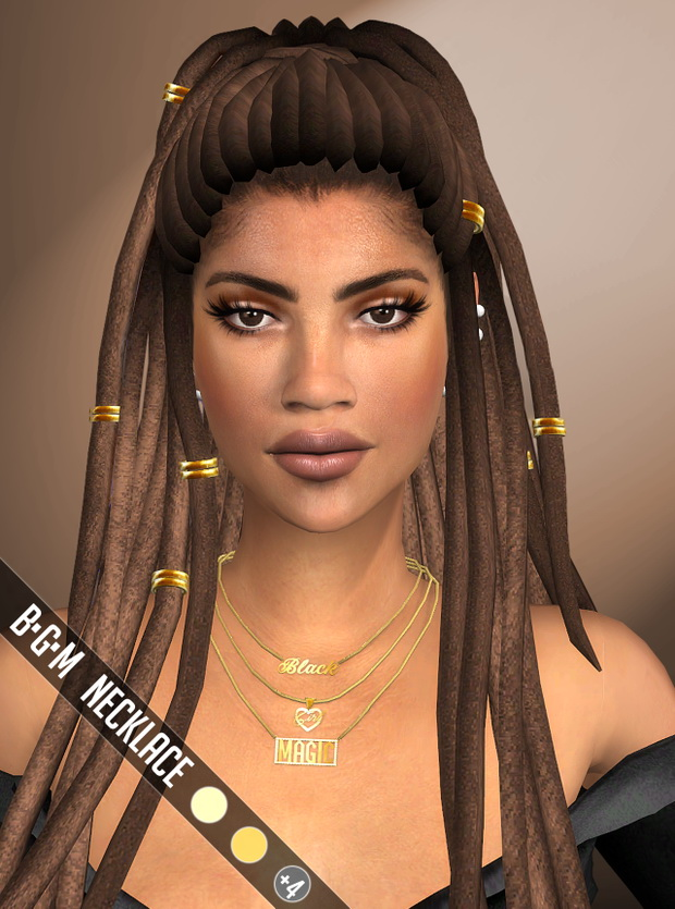 Black Girl Magic Necklace at Vittler Universe image 8510 Sims 4 Updates