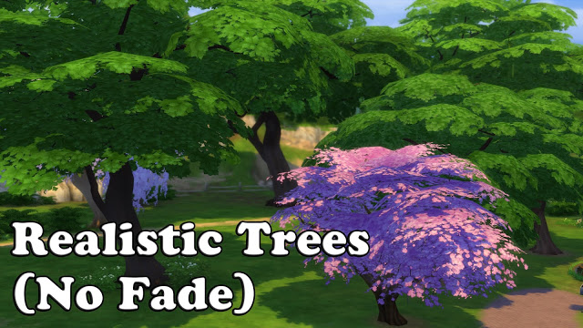 Sims 4 Realistic Trees (No Fade) at MSQ Sims