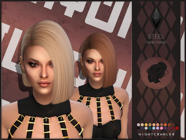 Steel hair by Nightcrawler at TSR image 86161 Sims 4 Updates
