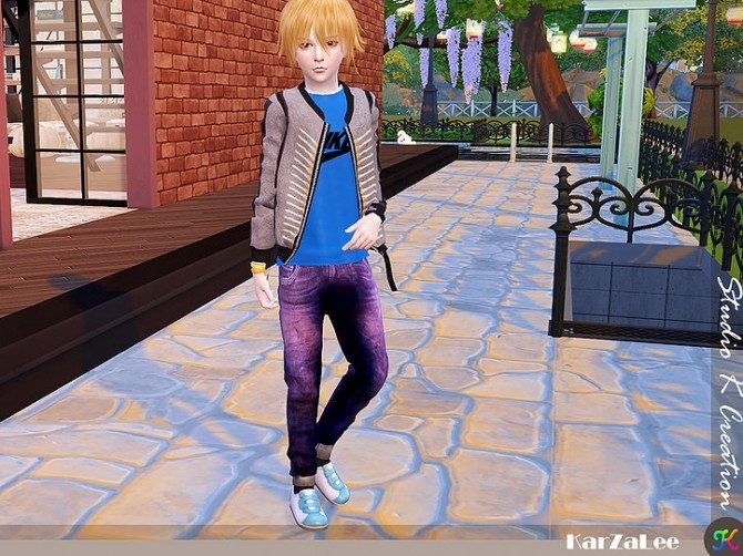 Giruto 48 roll up jeans for kids at Studio K Creation image 866 670x502 Sims 4 Updates