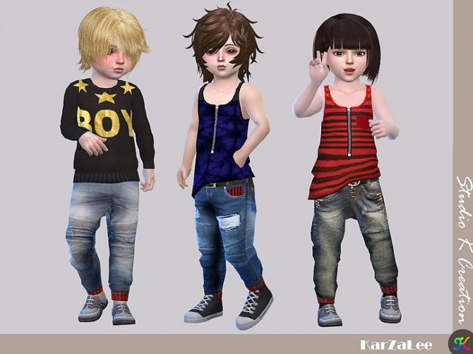 Giruto 48 roll up jeans for toddler at Studio K Creation image 877 670x502 Sims 4 Updates