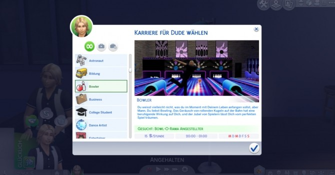 Sims 4 Bowling Career by Marduc Plays at Mod The Sims