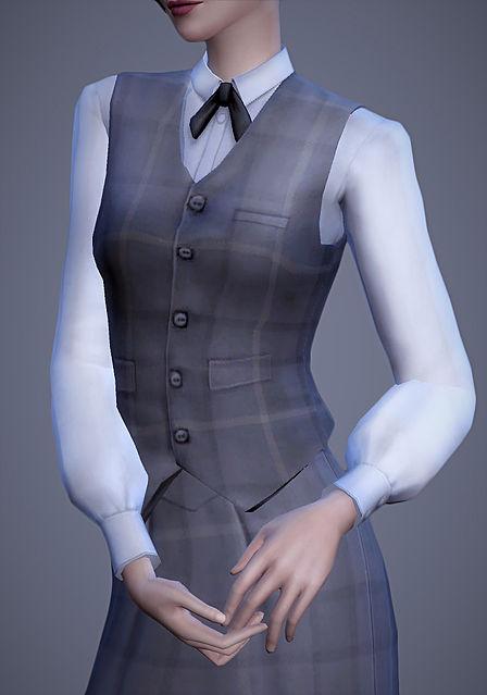 Scholar Vest & Skirt at Magnolian Farewell image 8811 Sims 4 Updates
