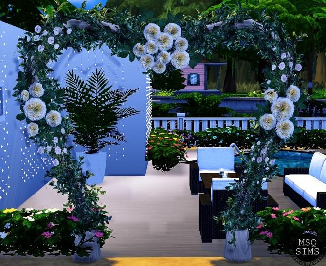 Sims 4 Wedding Arch Modern TS3 To TS4 at MSQ Sims