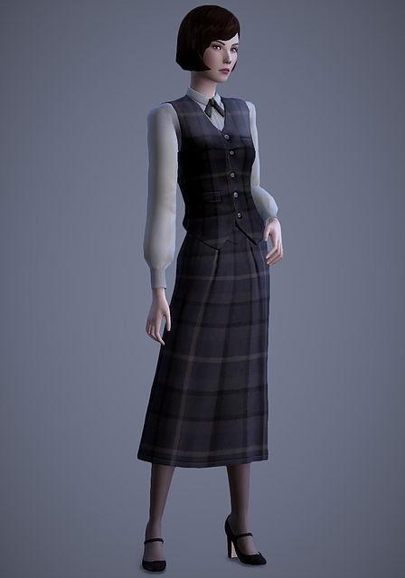 Scholar Vest & Skirt at Magnolian Farewell image 909 Sims 4 Updates