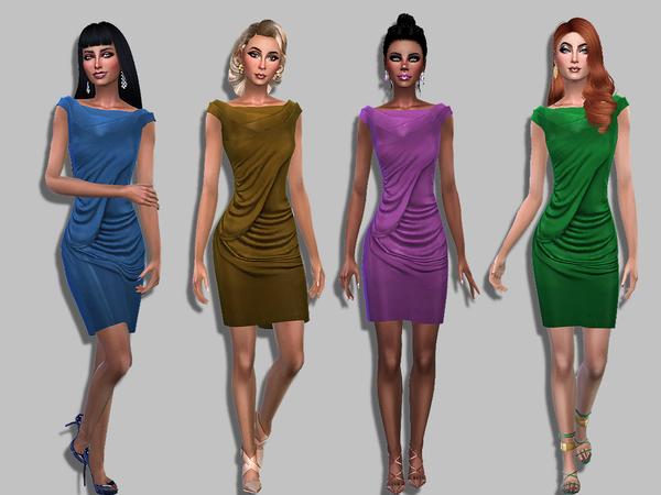 Sims 4 Dalya dress by Simalicious at TSR