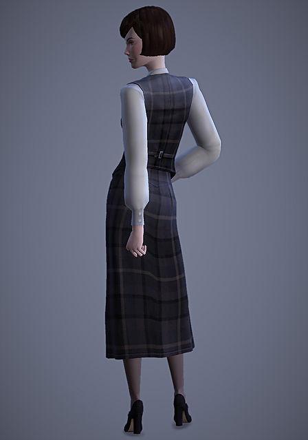 Sims 4 Scholar Vest & Skirt at Magnolian Farewell