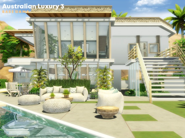 Australian Luxury 3 house by Pralinesims at TSR image 917 Sims 4 Updates