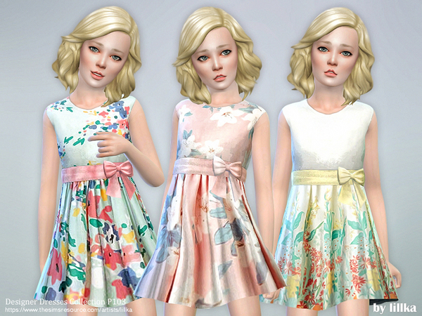 Sims 4 Designer Dresses Collection P103 by lillka at TSR
