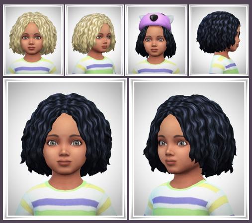 Sims 4 WavyBob Toddler at Birksches Sims Blog