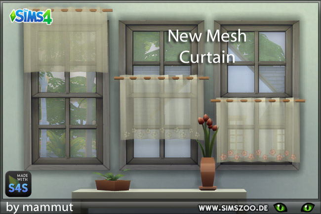 Bistro curtains 1 by mammut at Blacky's Sims Zoo image 9510 Sims 4 Updates