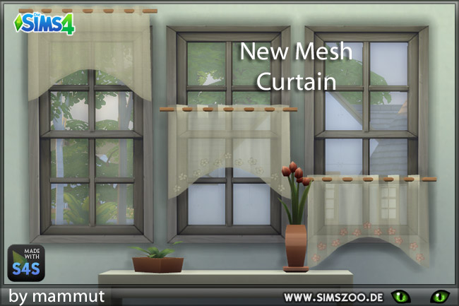 Bistro curtains 1 round cut by mammut at Blacky's Sims Zoo image 9610 Sims 4 Updates