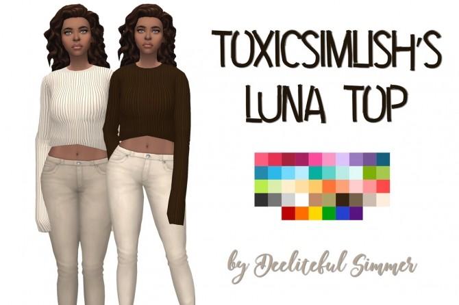 Toxicsimlishs Luna top recolors at Deeliteful Simmer image 9611 670x446 Sims 4 Updates