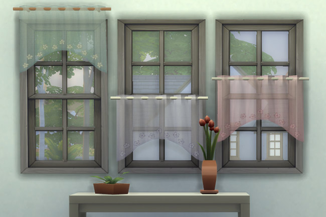 Bistro curtains 1 round cut by mammut at Blacky's Sims Zoo image 9710 Sims 4 Updates