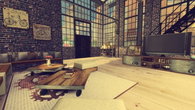 Sims 4 Industrial Loft at Simming With Mary